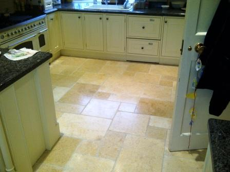 Kitchen Stone Floor Complete Restoration