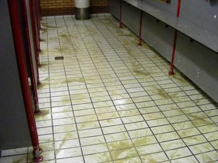 Public Toilets During Cleaning