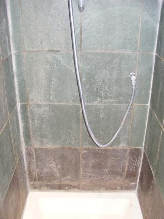 Slate Shower Before Restoration