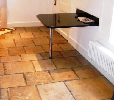 Stone Floor After Cleaning and Sealing