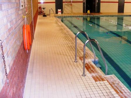 Swimming Pool Tile Before Restoration