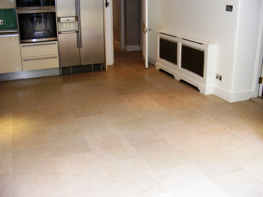 Cleaned Limestone Tiled Kitchen Finished