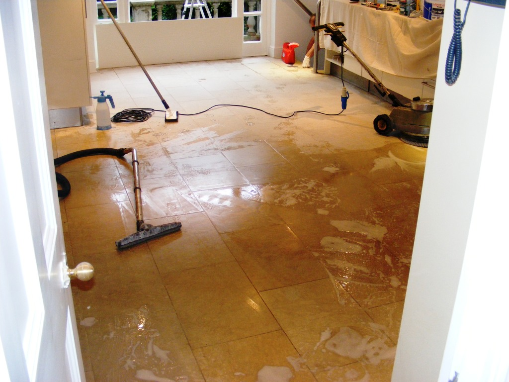 Cleaning limestone floor tiles in london hertfordshire for Best way to wash kitchen floor