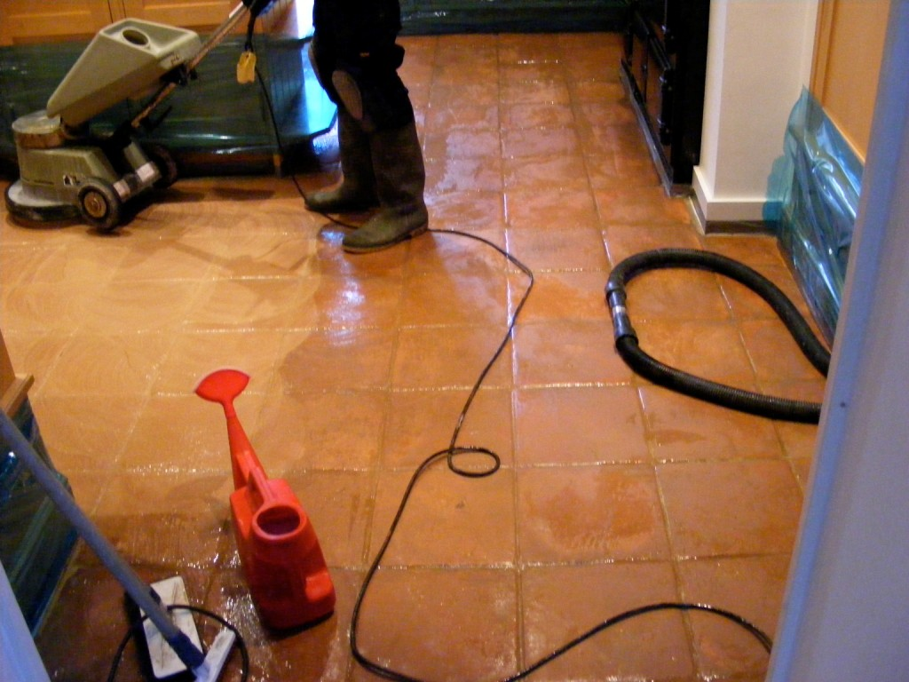 Mexican Terracotta Cleaning and wax removal
