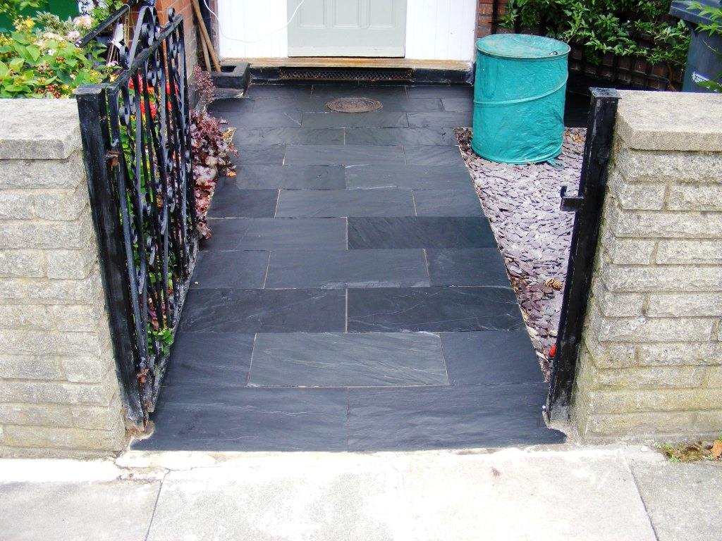 Natural Slate Path Cleaned and Sealed