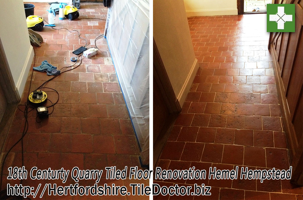 Renovating Dull and Dirty Quarry Tiles in Hemel Hempstead
