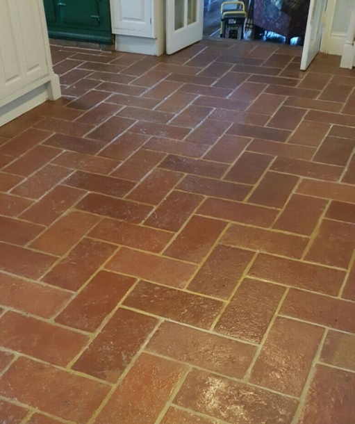 Terracotta Lodge Floor Tile After Cleaning in Welwyn Garden City
