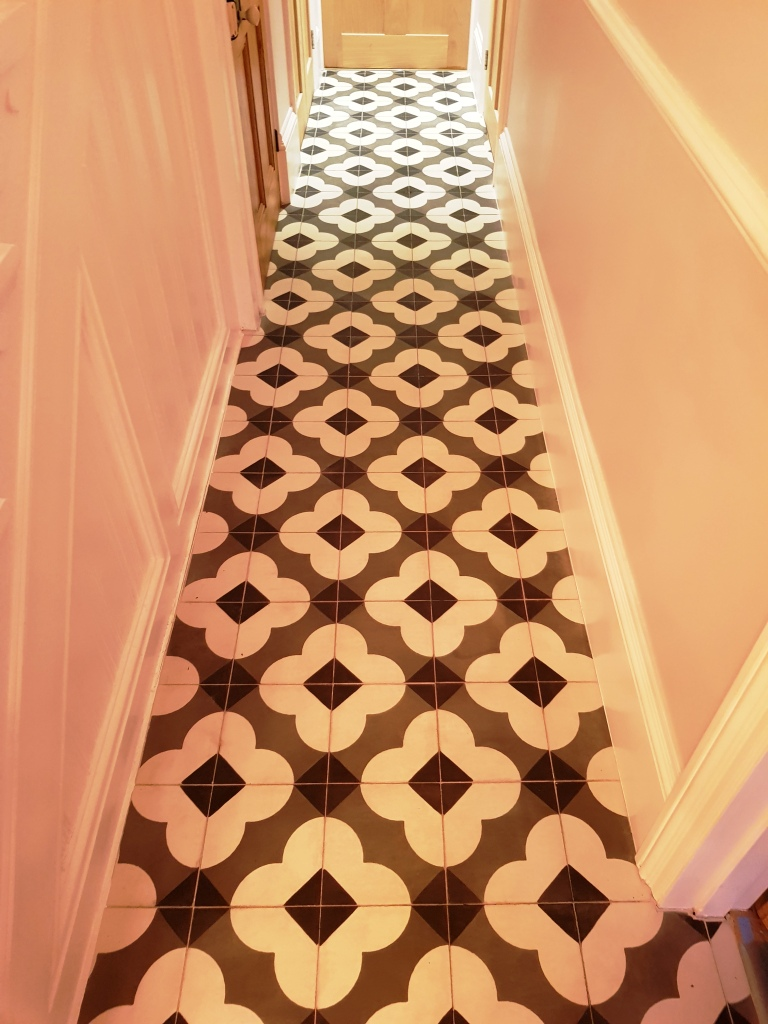 Encaustic Tiled Hallway After Cleaning Berkhamstead
