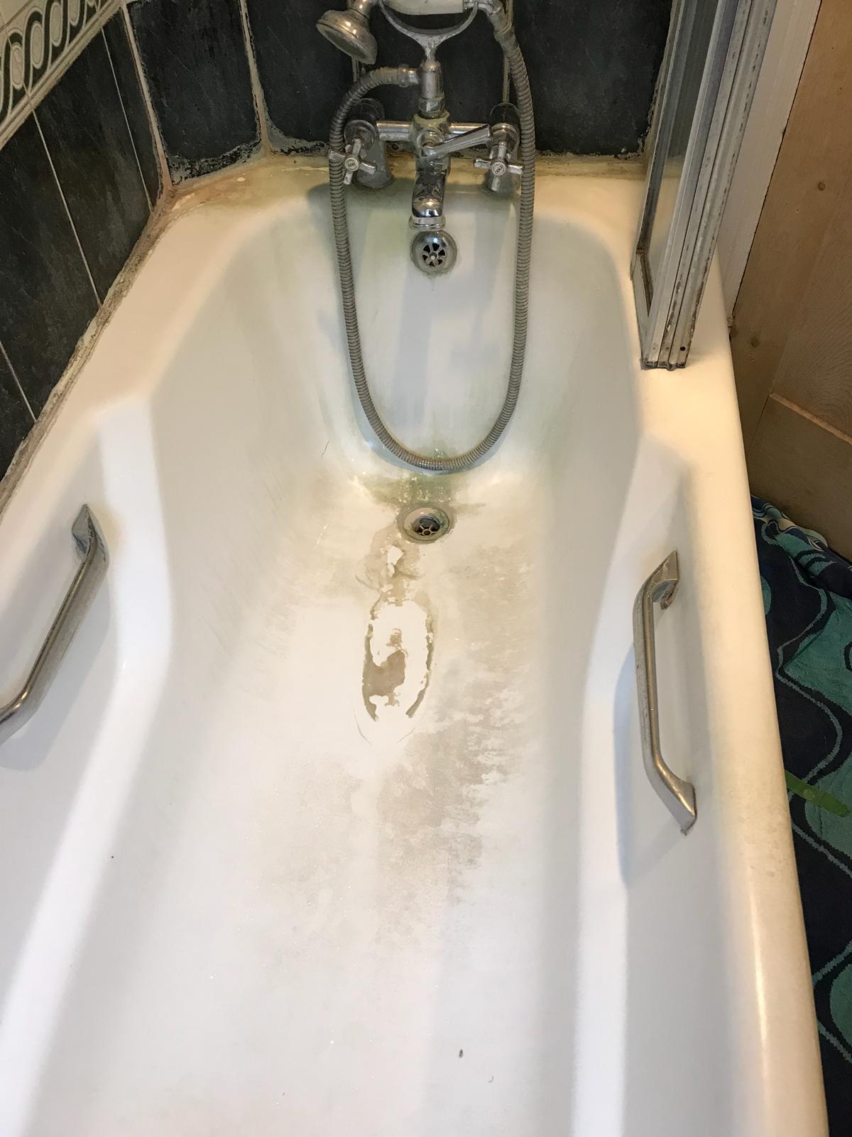 St Albans Bath Tile Grout Before Renovation