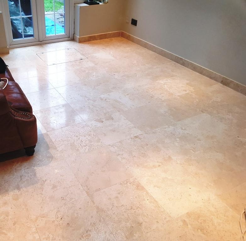 Travertine Floor After Cleaning Welwyn Garden City