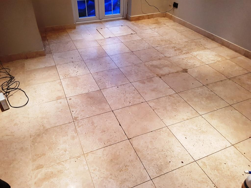 Travertine Floor Before Cleaning Welwyn Garden City