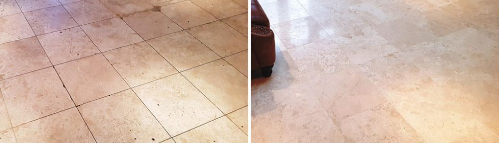 Travertine Tiled Floor Diamond Honed in Welwyn Garden City