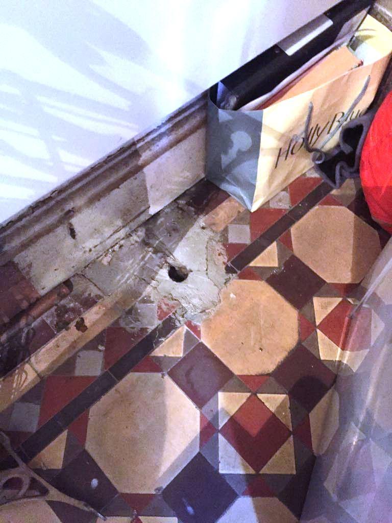 Edwardian Hallway Before Rebuild Harpenden