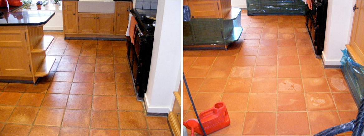 Cleaning Mexican Terracotta Tiles, St Albans