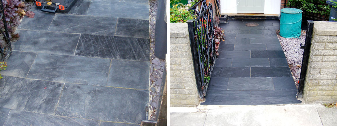Cleaning Natural Slate Paving