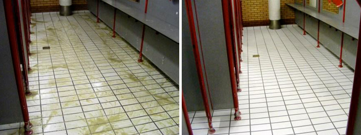 Public Toilets Before and After Cleaning