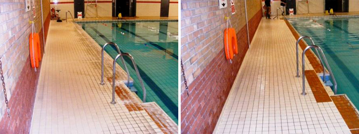 Swimming Pool Tile Before and After